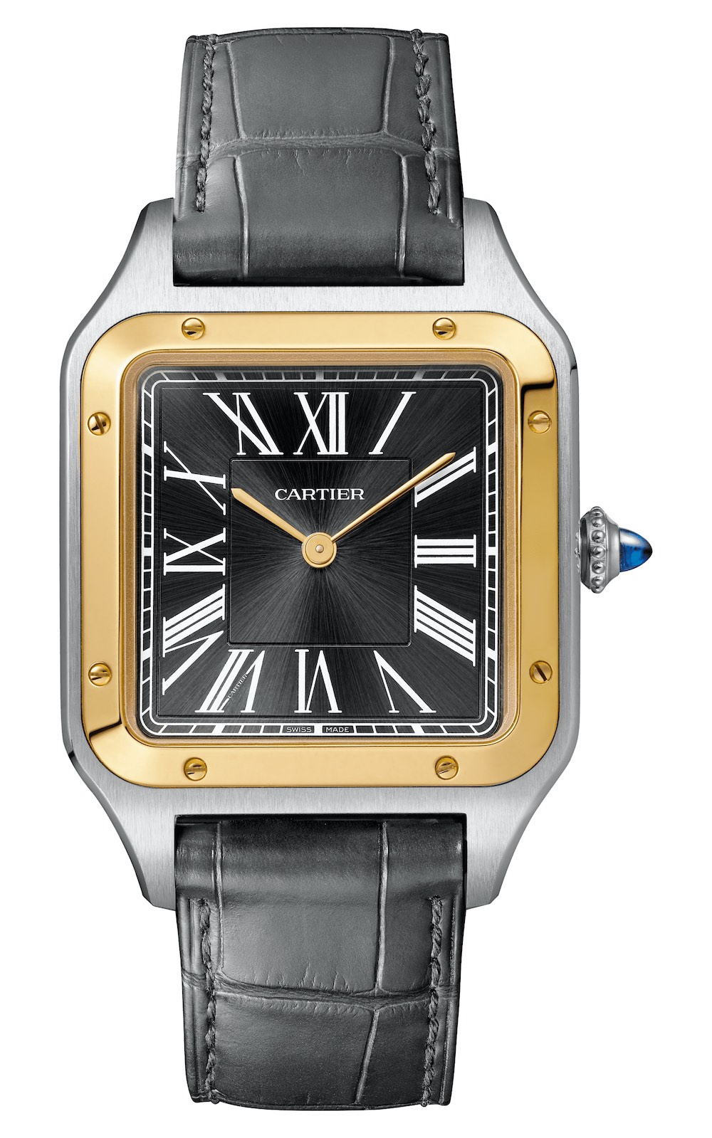 2020 Cartier Santos-Dumont hand-wound limited edition steel and yellow gold 14-Bis W2SA0015 - 3