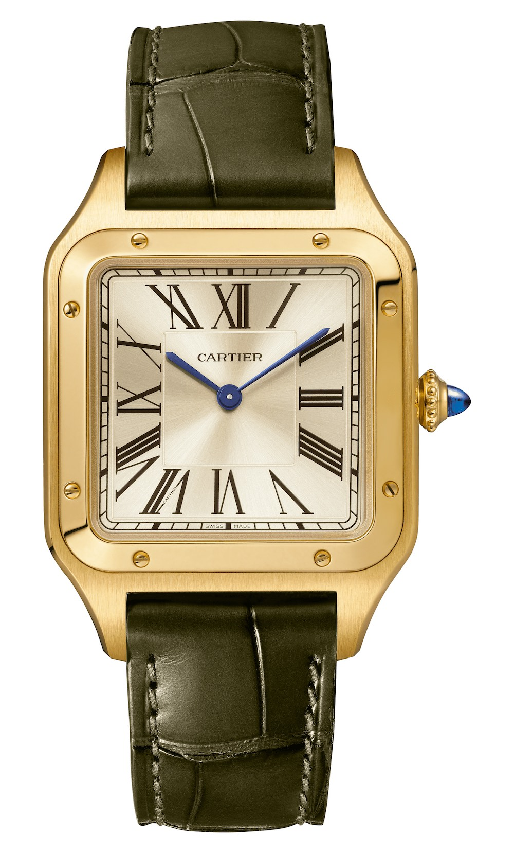 2020 Cartier Santos-Dumont hand-wound limited edition yellow gold La Baladeuse WGSA0027 - 3