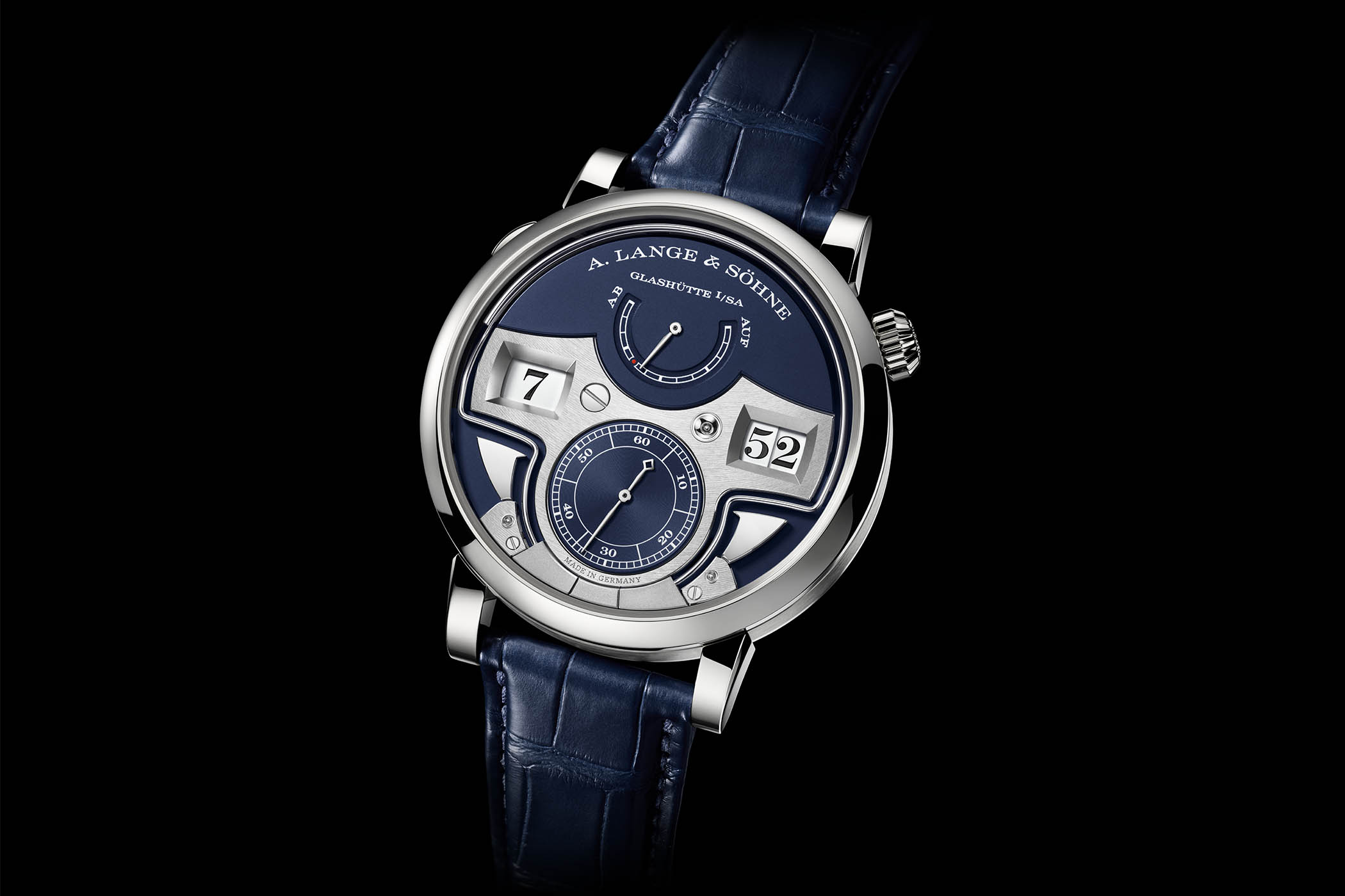 A. Lange & Söhne Zeitwerk Minute Repeater White Gold Blue Dial
