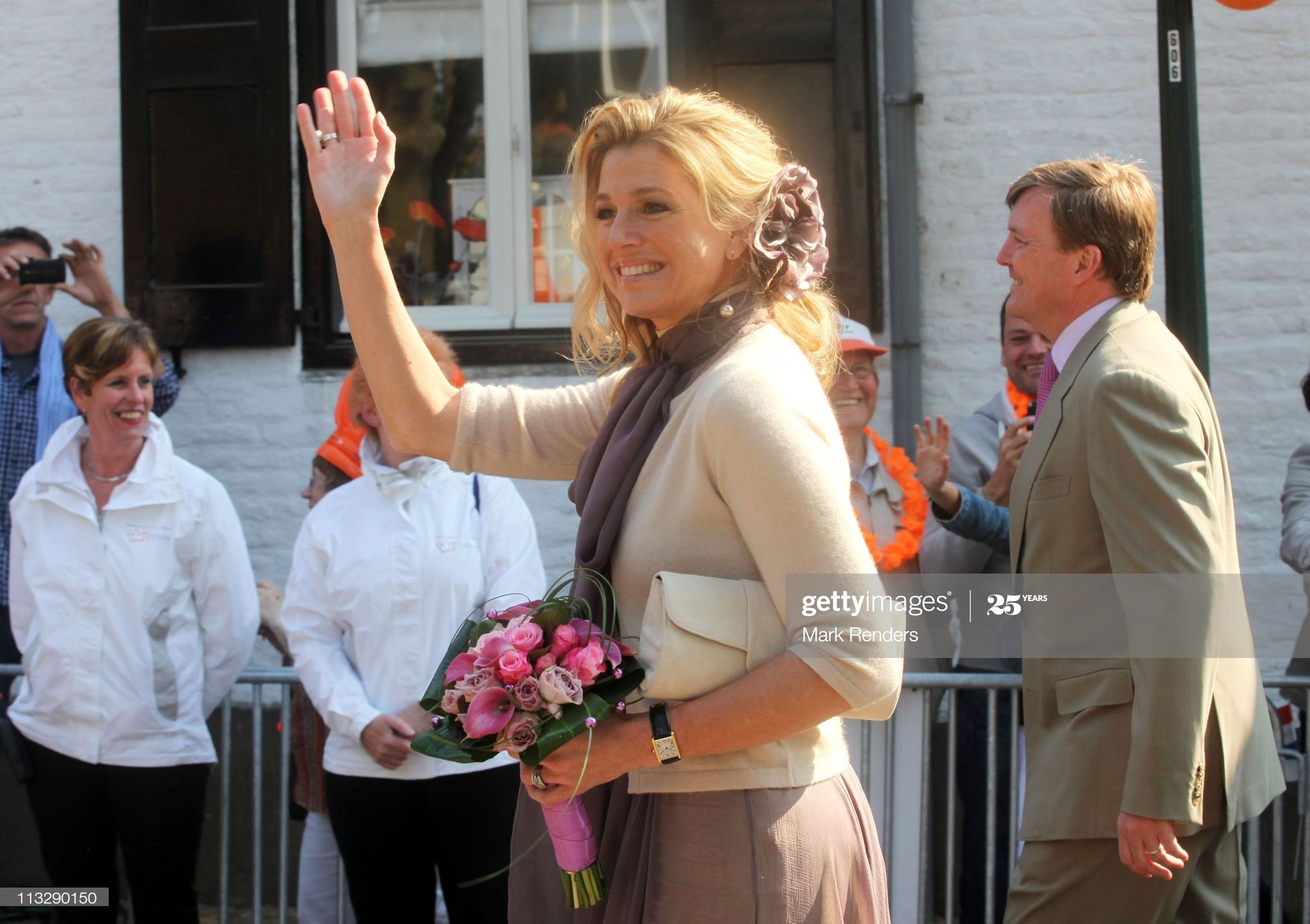 Dutch Queen Maxima Cartier Tank- Koningsdag