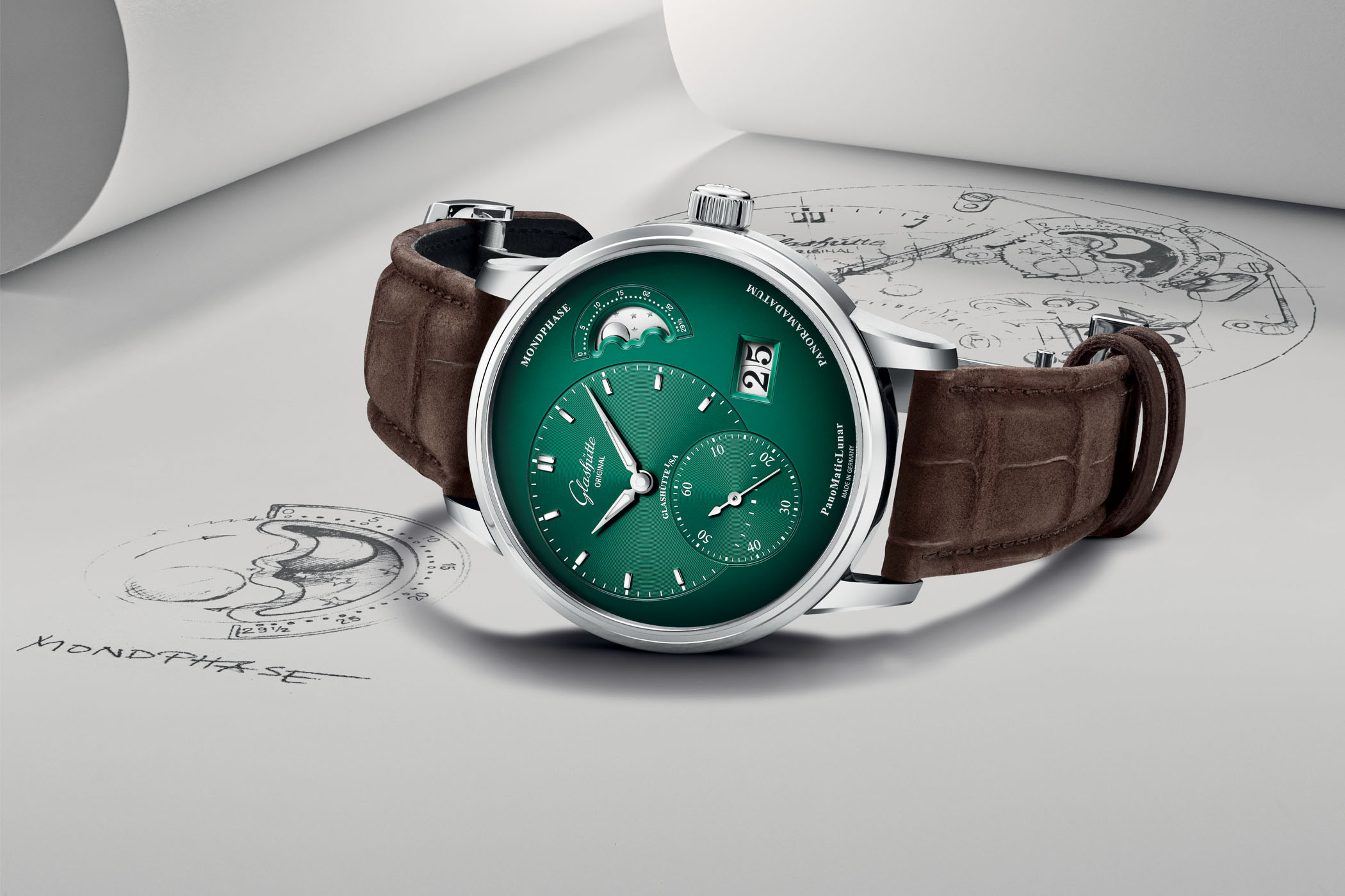 Glashutte Original PanoMaticLunar Forest Green