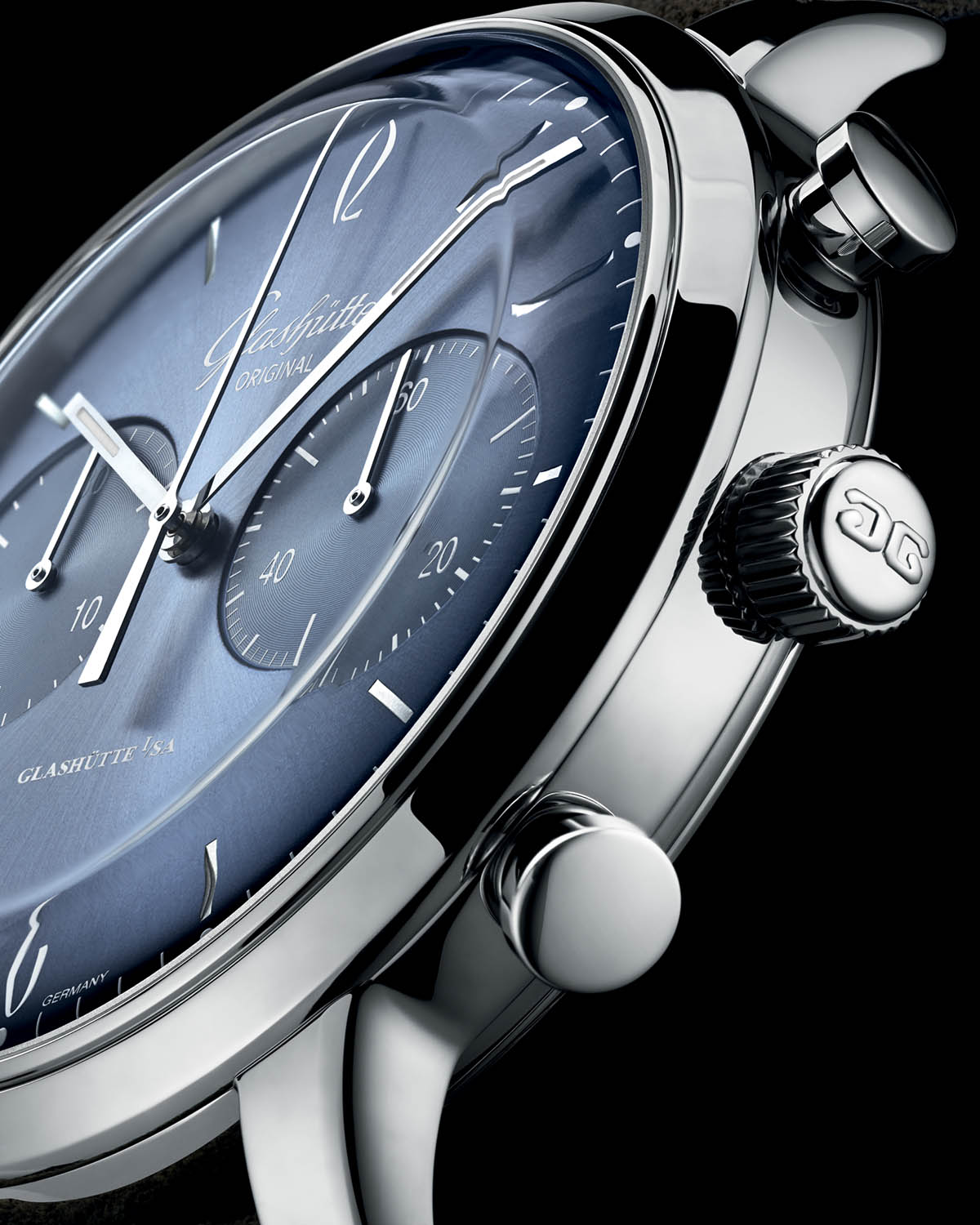 Glashutte Original Sixties and Sixities Chronograph Annual Edition 2020 Glacier Blue - 2