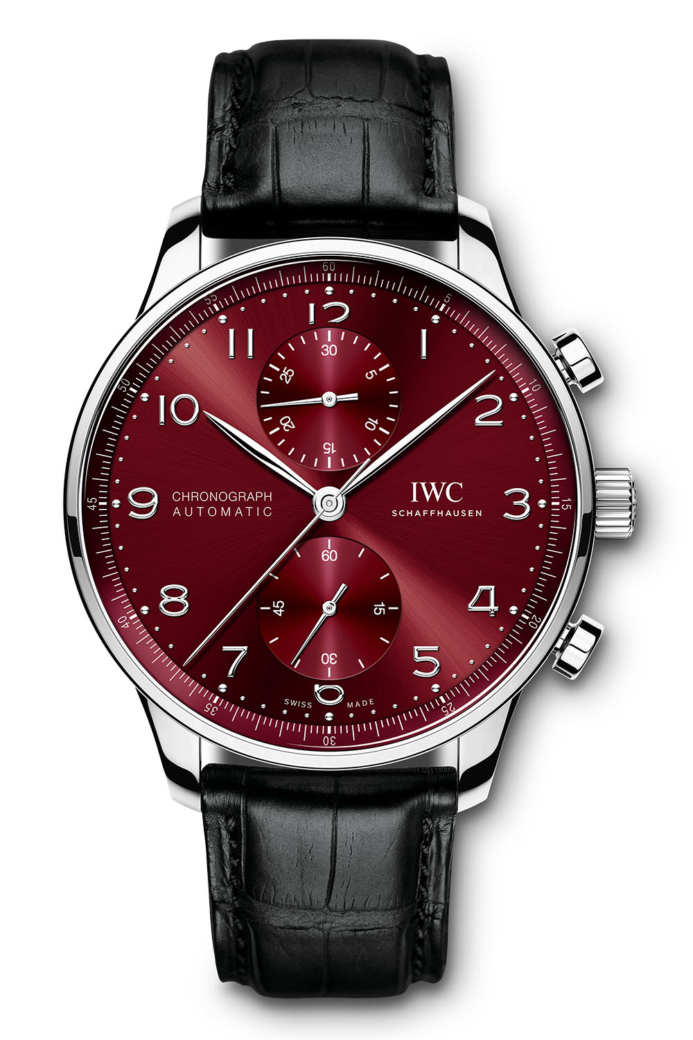 IWC Portugieser Chronograph automatic burgundy dial iw371616 - 1