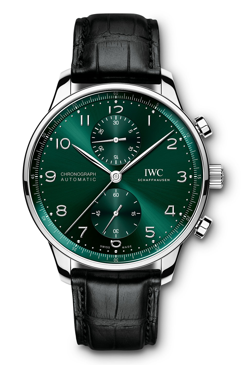 IWC Portugieser Chronograph automatic green dial iw371615 - 1