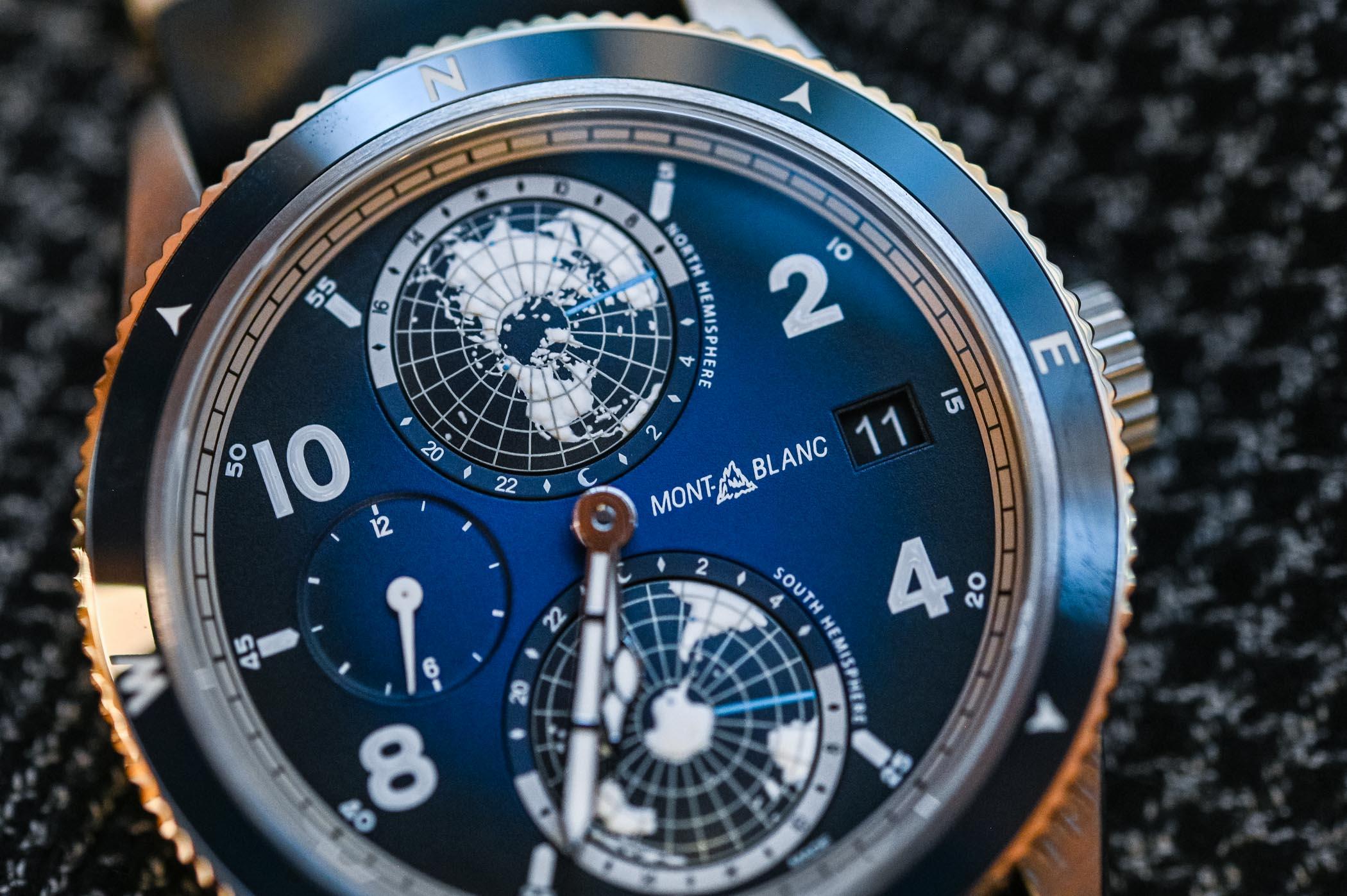 Montblanc 1858 Geosphere Titanium and Blue dial