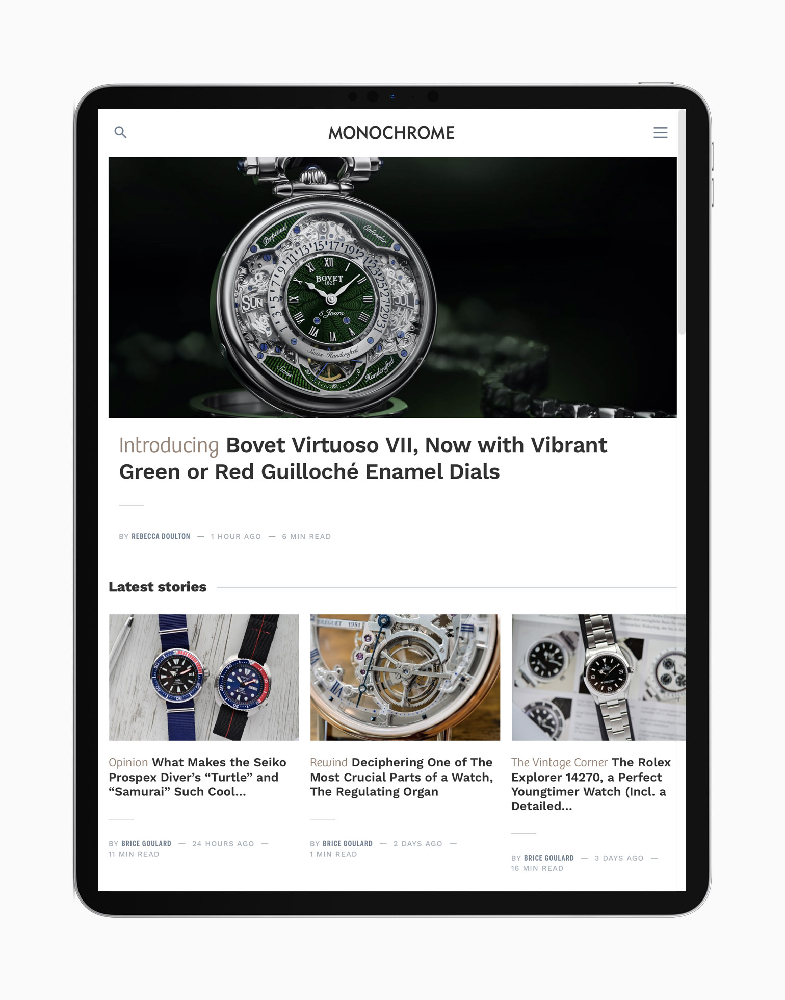 New website 2020 MONOCHROME WATCHES - Ipad 3