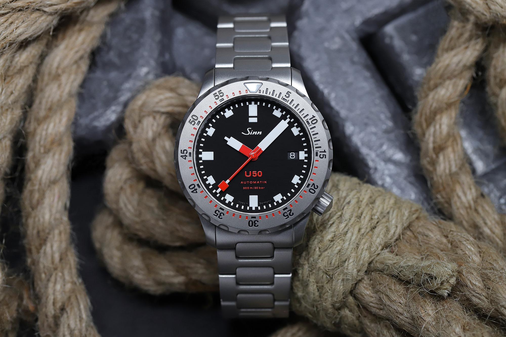 Sinn U50 German Submarine Steel Dive Watch - Smaller U1