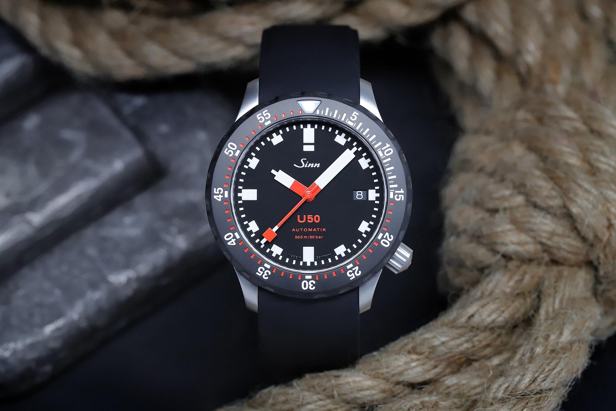 Sinn U50 SDR German Submarine Steel Dive Watch