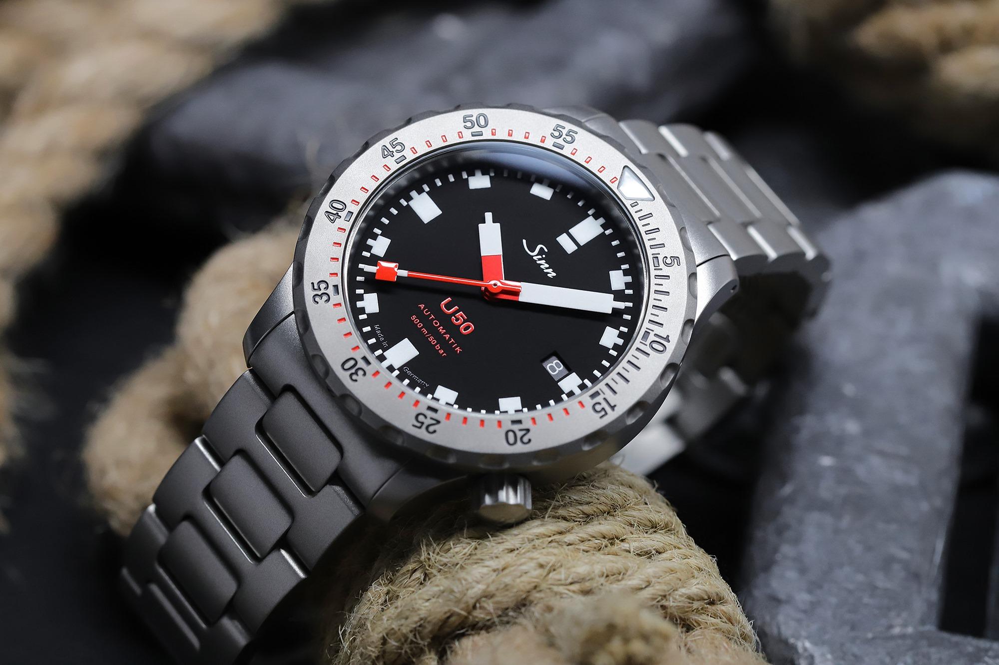 Sinn U50 German Submarine Steel Dive Watch