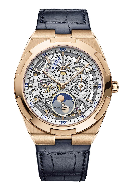 Vacheron Constantin Overseas perpetual calendar ultra-thin skeleton Pink Gold 4300V