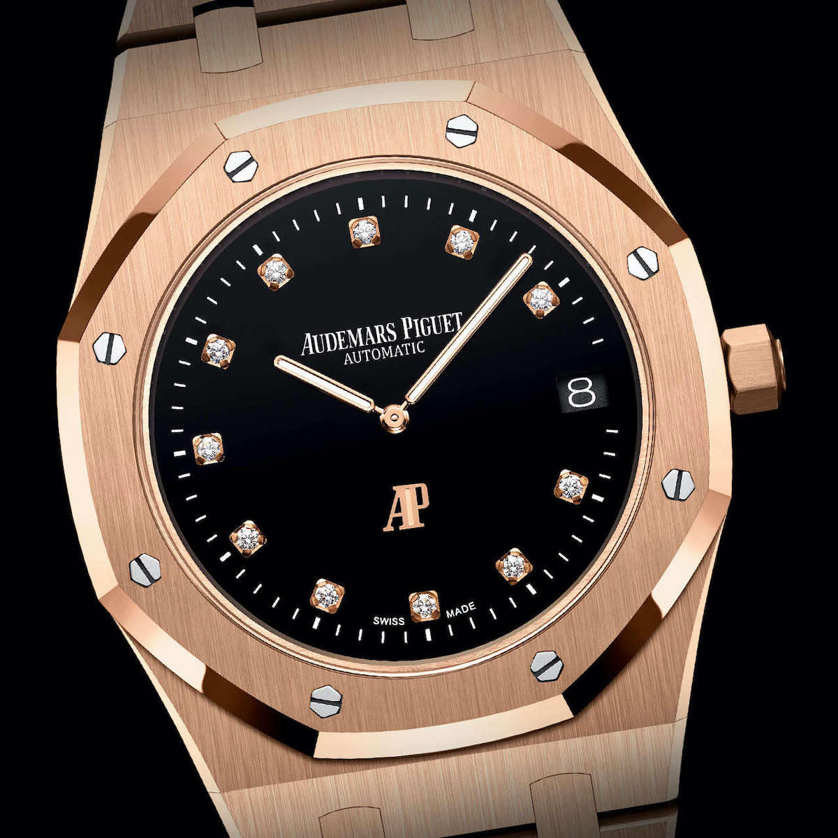Audemars Piguet Royal Oak Jumbo Extra-Thin Yoshida Pink Gold Diamond Dial 15207OR