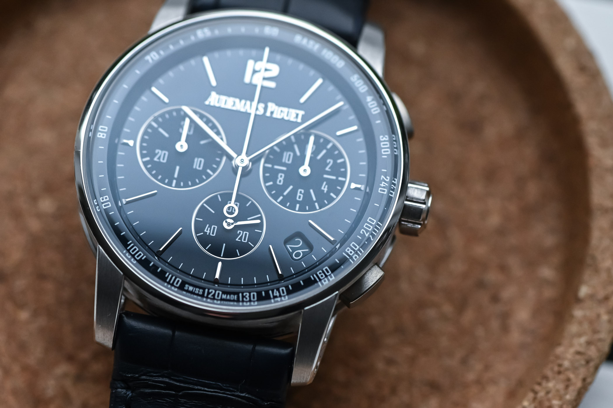 Code 11.59 by Audemars Piguet Selfwinding Chronograph Review - lacquered dial