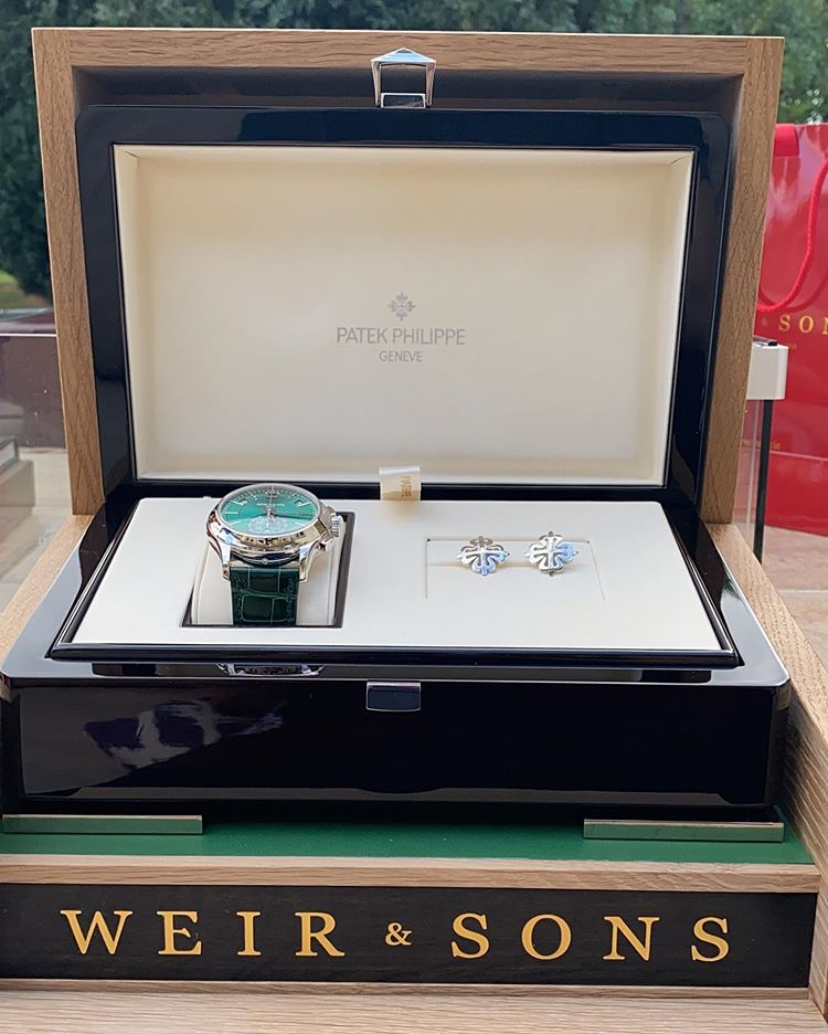 Conor McGregor Green Patek Philippe Annual Calendar Chronograph 5905P-014 Irish Weir and Sons - 4