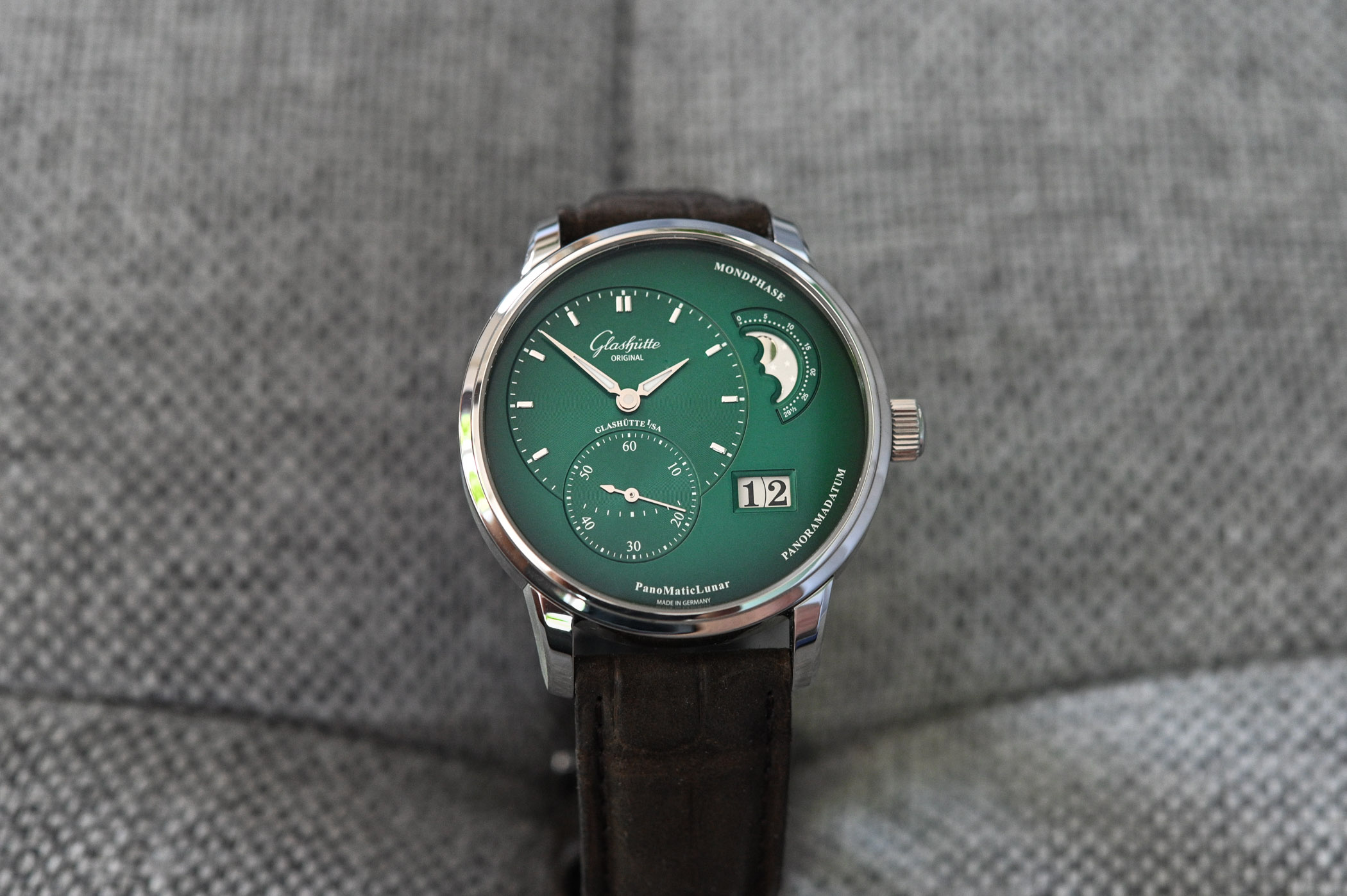 Hands On Glashutte Original Panomaticlunar Forest Green Price