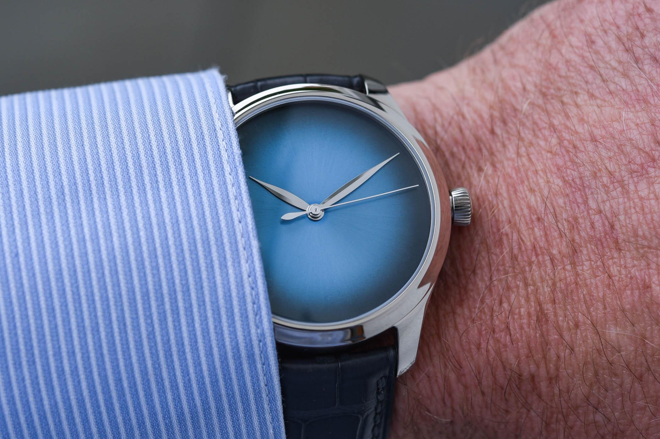 H Moser Cie Endeavour Centre Seconds Concept Funky Blue - 6