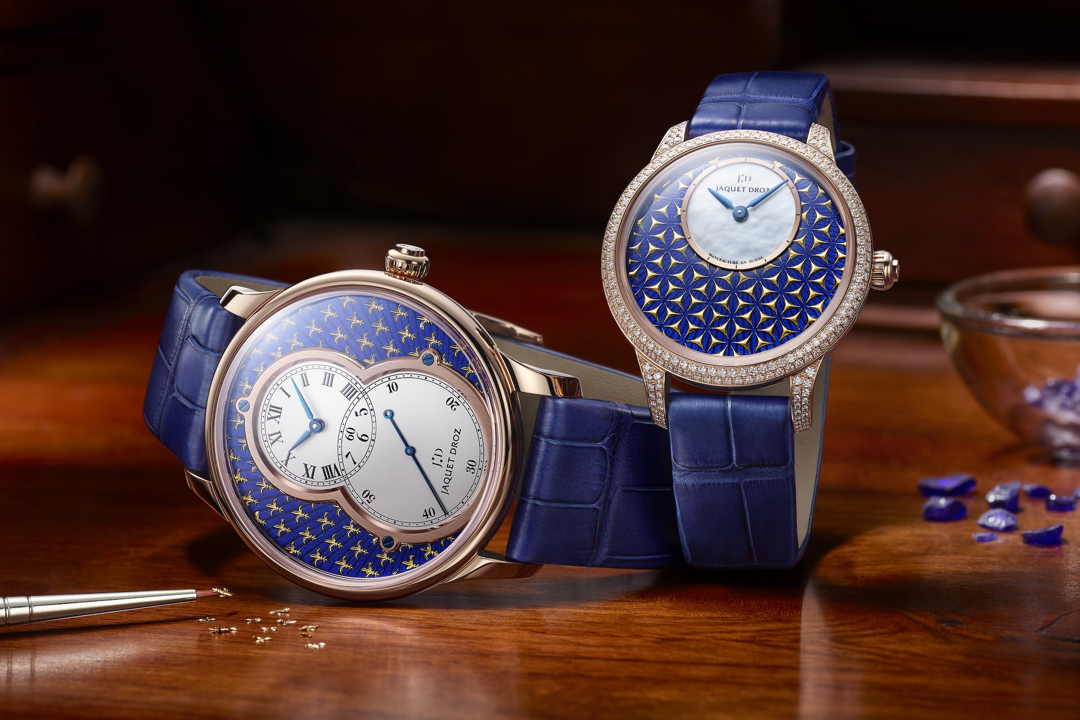 Jaquet Droz Grande Seconde and Petite Heure Minute Paillonne 2020