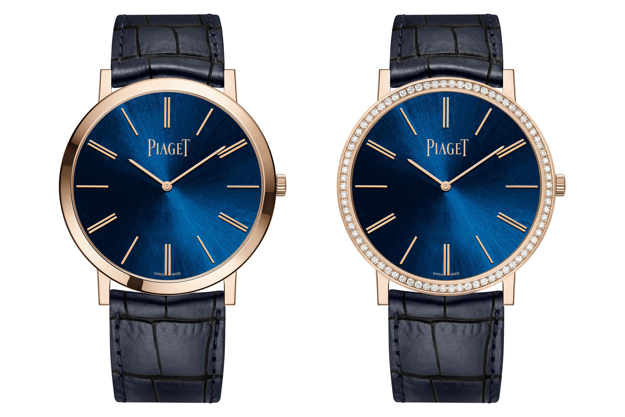 Piaget Altiplano 38mm Hand-Wound Blue Dial Pink Gold - 2020 new - G0A45050 G0A45051