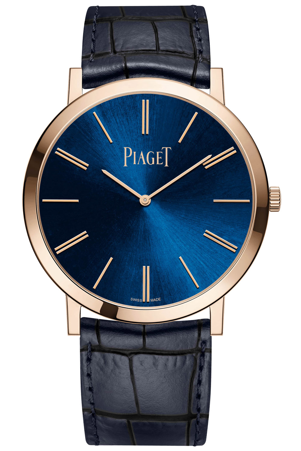 Piaget Altiplano 38mm Hand-Wound Blue Dial Pink Gold - 2020 new - G0A45050