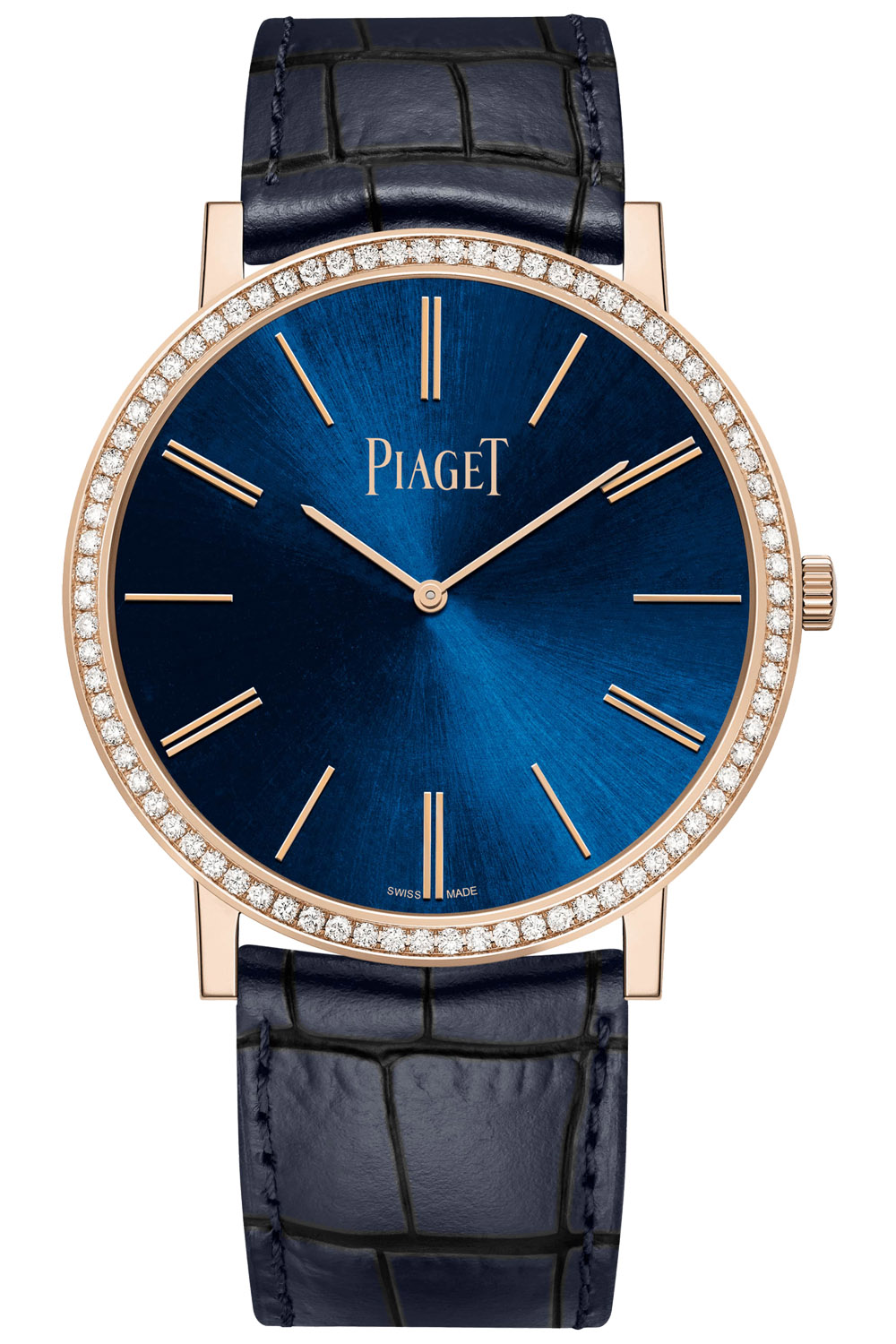 Piaget Altiplano 38mm Hand-Wound Blue Dial Pink Gold - 2020 new - G0A45051