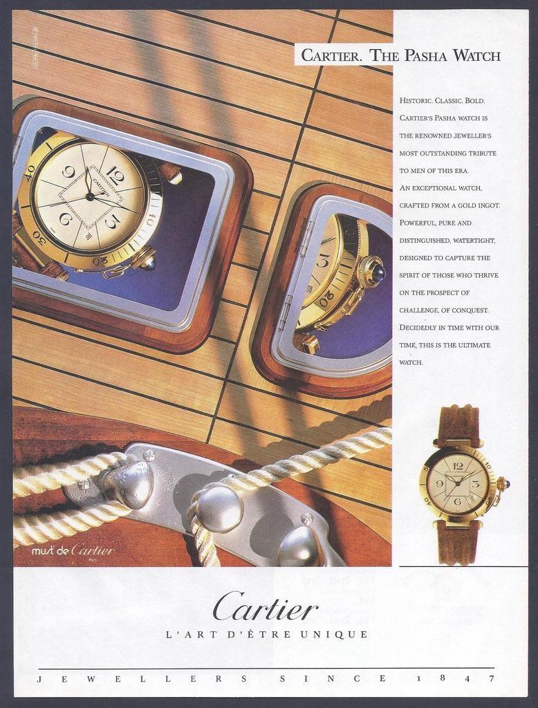 pasha de Cartier watch advert print - 1