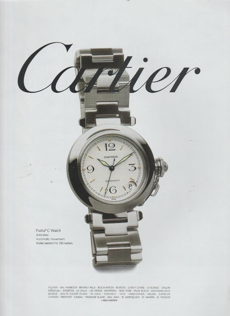 pasha de Cartier watch advert print - 2