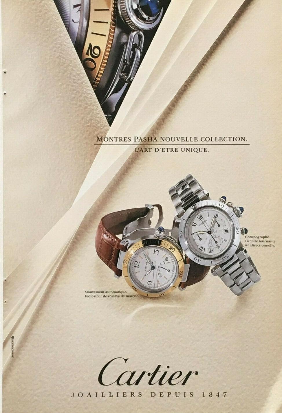 pasha de Cartier watch advert print - 3
