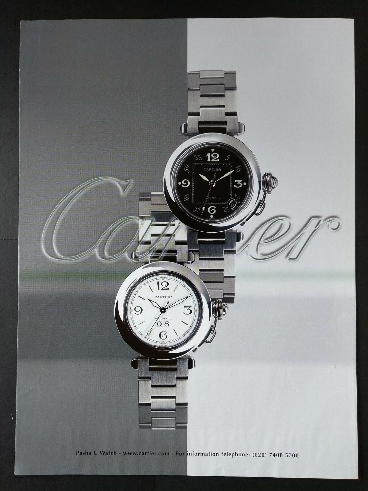 pasha de Cartier watch advert print - 4