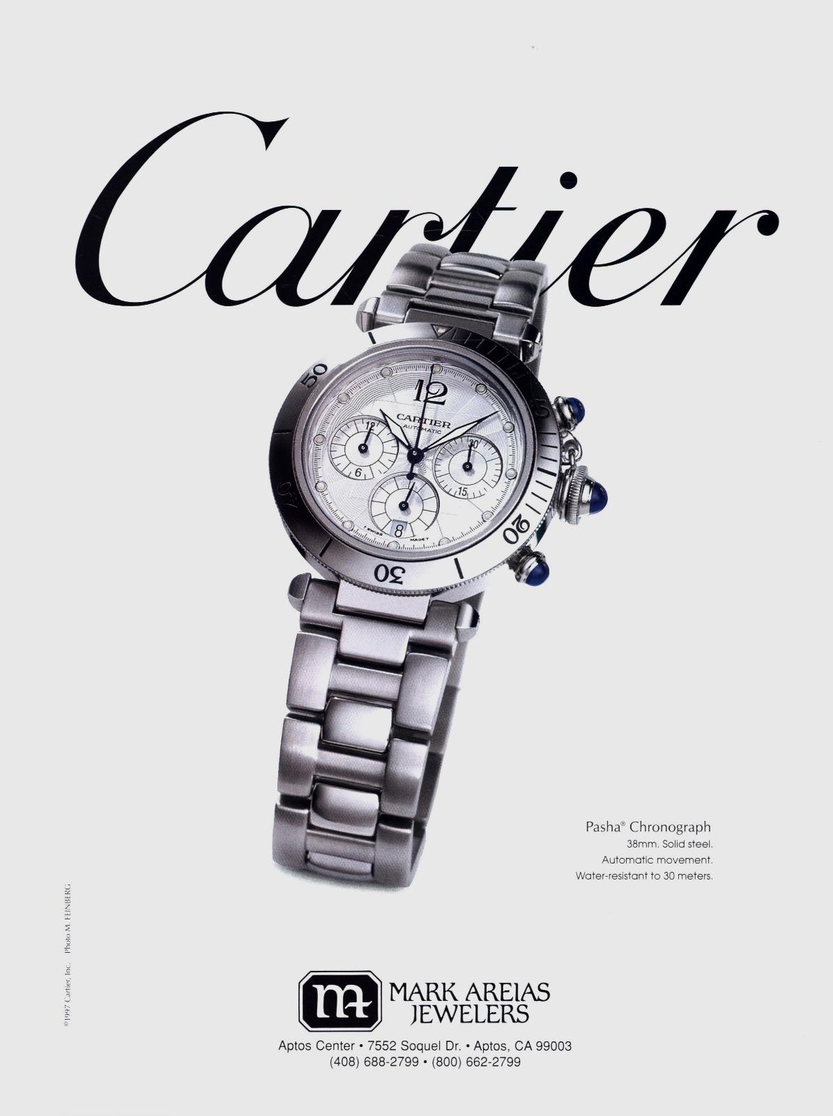 pasha de Cartier watch advert print - 5