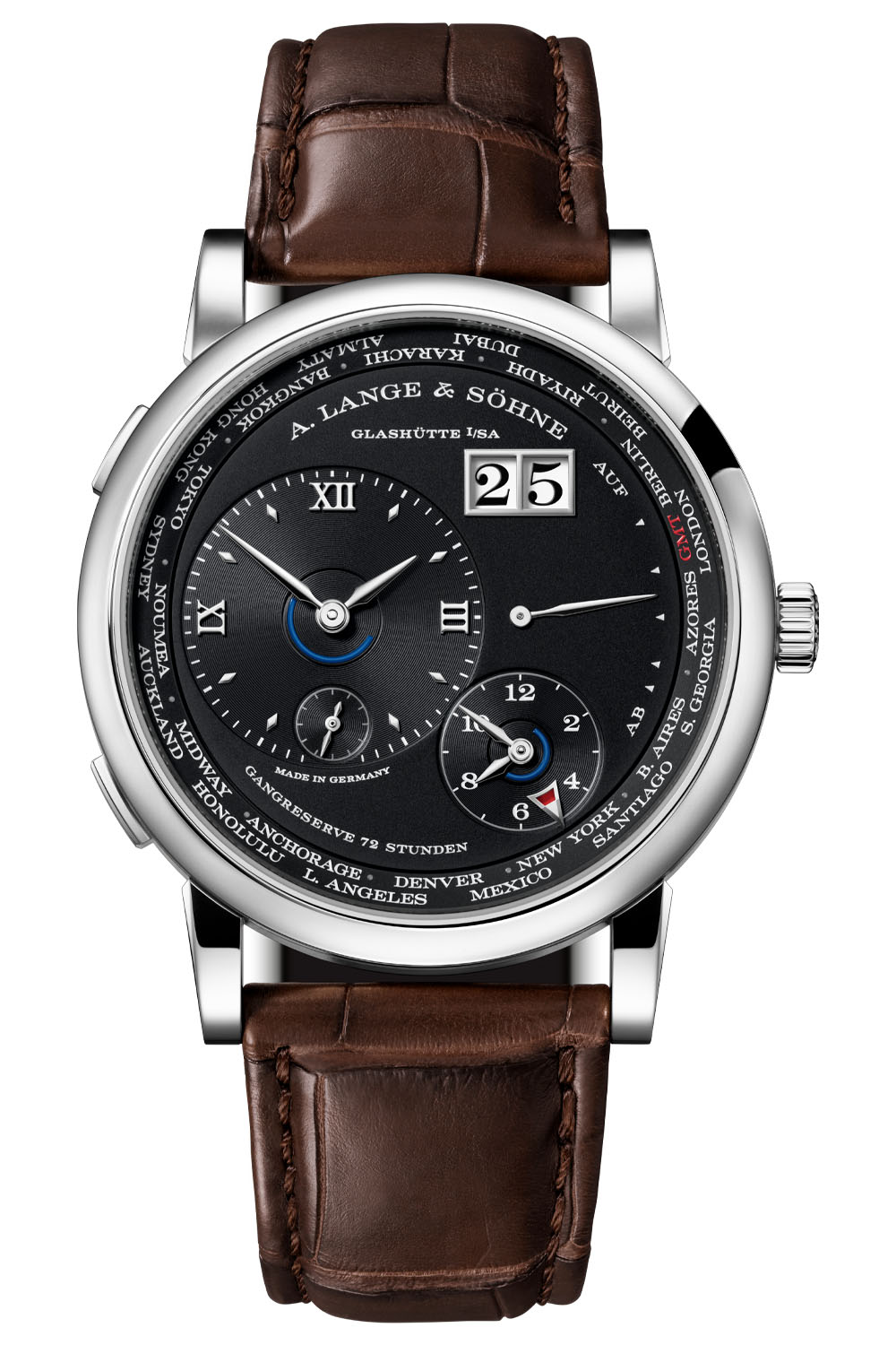 2020 A Lange Sohne Lange 1 Time Zone white gold black dial 136.029