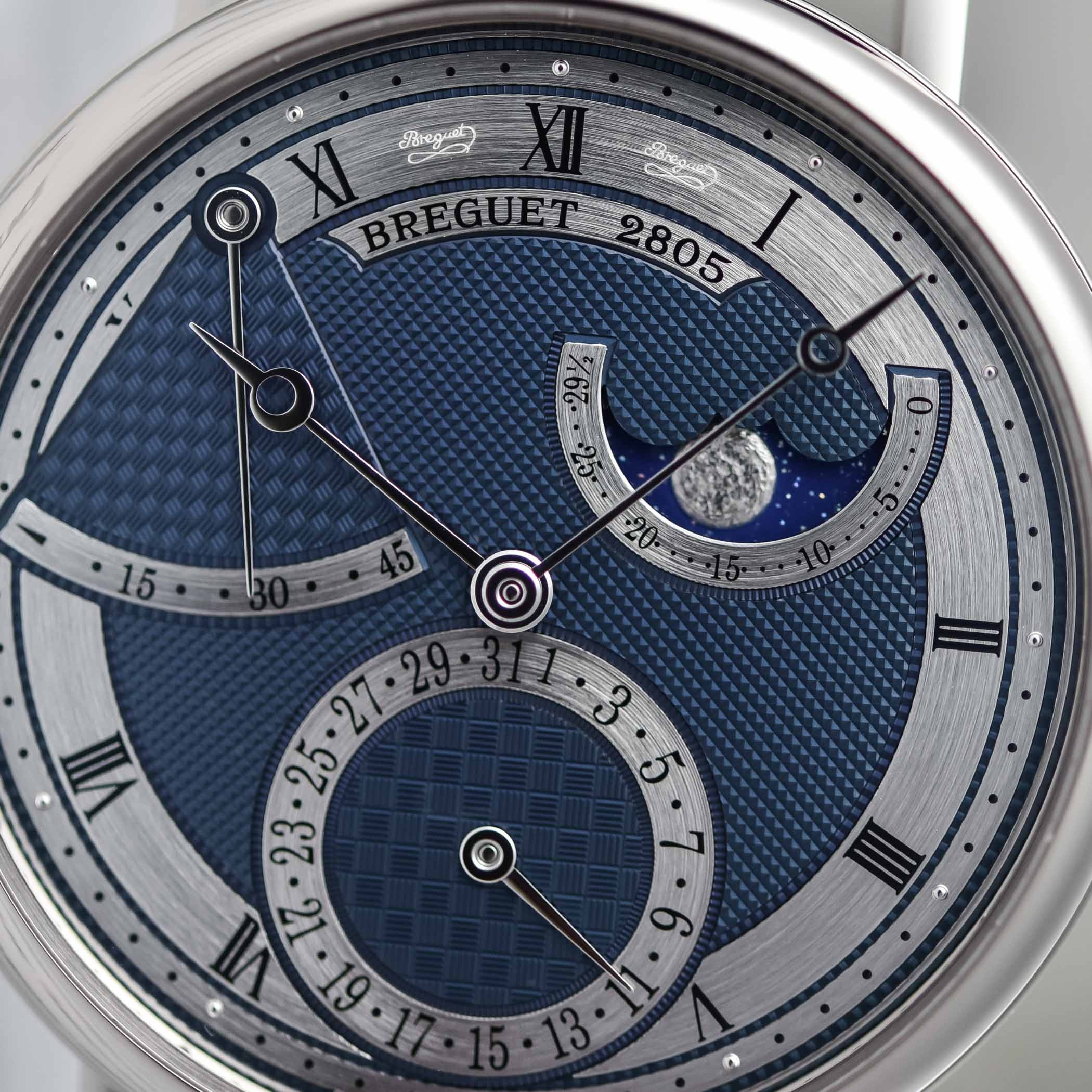 2020 Breguet Classique 7137 Moon Power Reserve Blue White Gold 7137BB/Y5/9VU