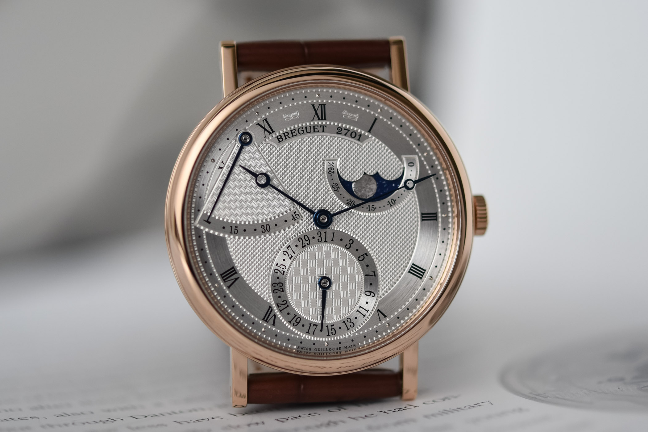 2020 Breguet Classique 7137 Moon Power Reserve Silver Pink Gold 7137BR/15/9VU