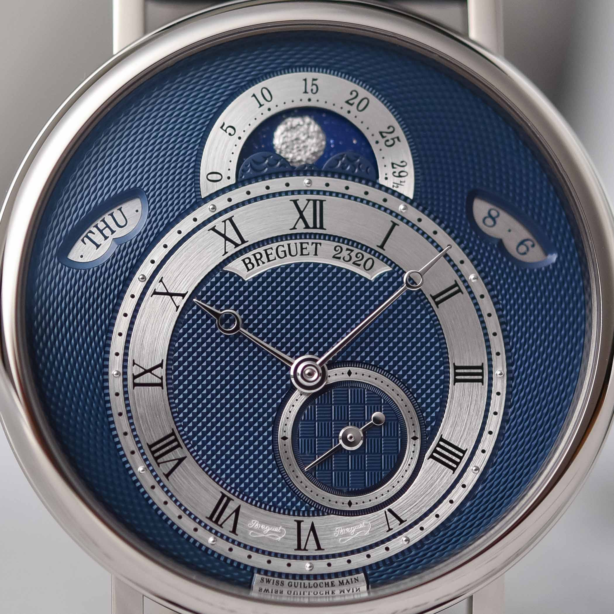 2020 Breguet Classique 7337 Moon and Calendar Chinoise White gold blue dial