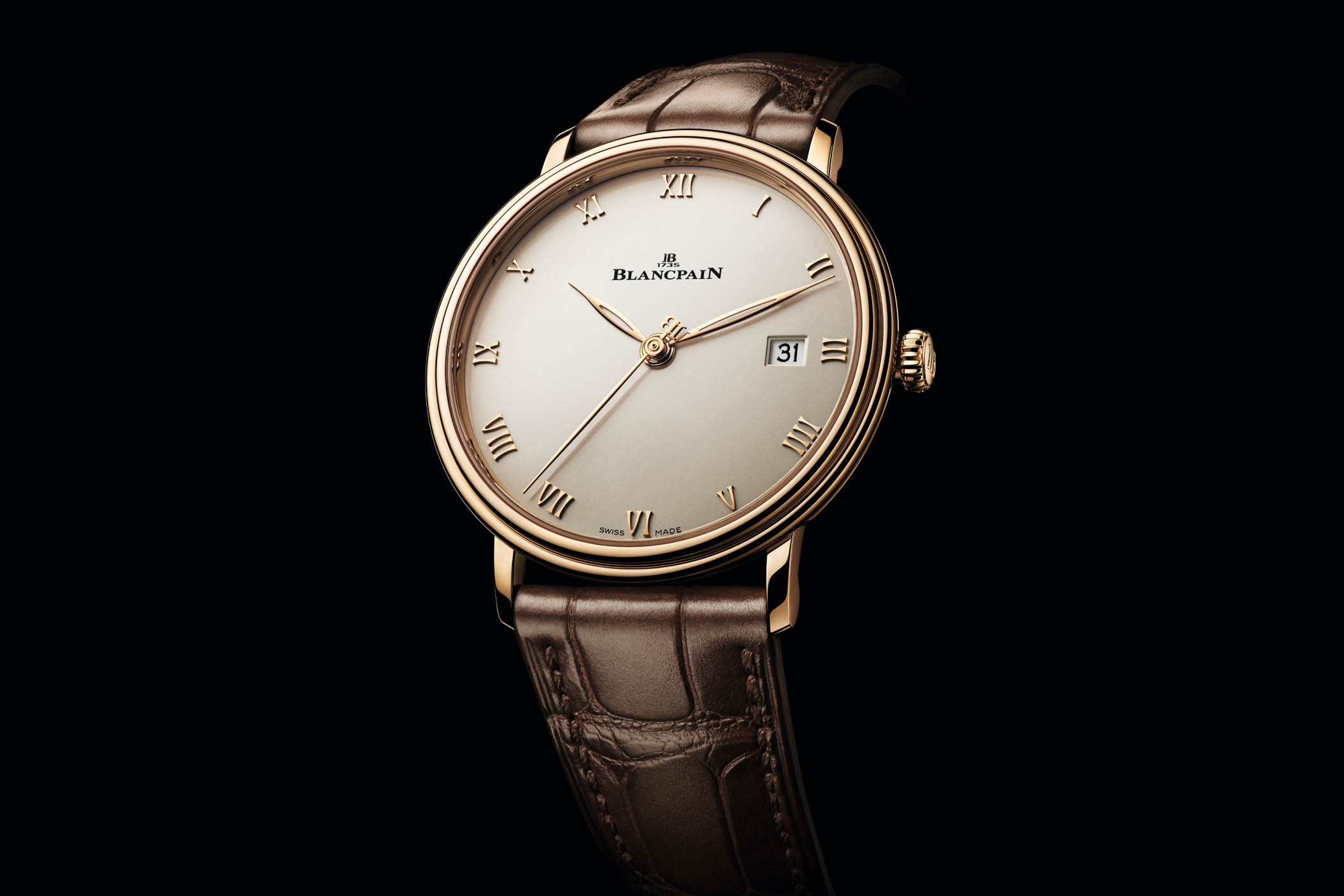 2020 Blancpain Villeret Ultraplate 6224 Automatic 18k red Gold
