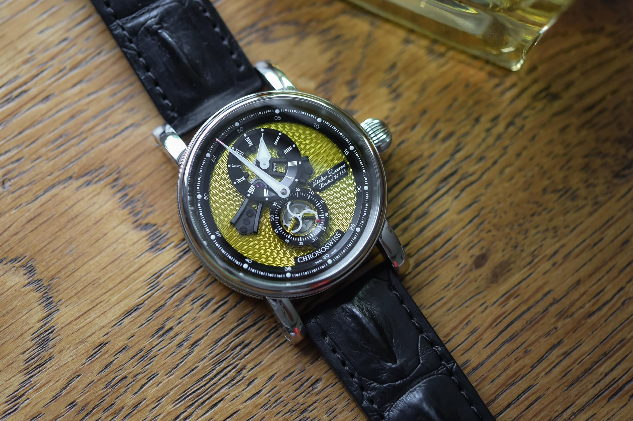 Chronoswiss Flying Regulator Open Gear Yellow Guilloche