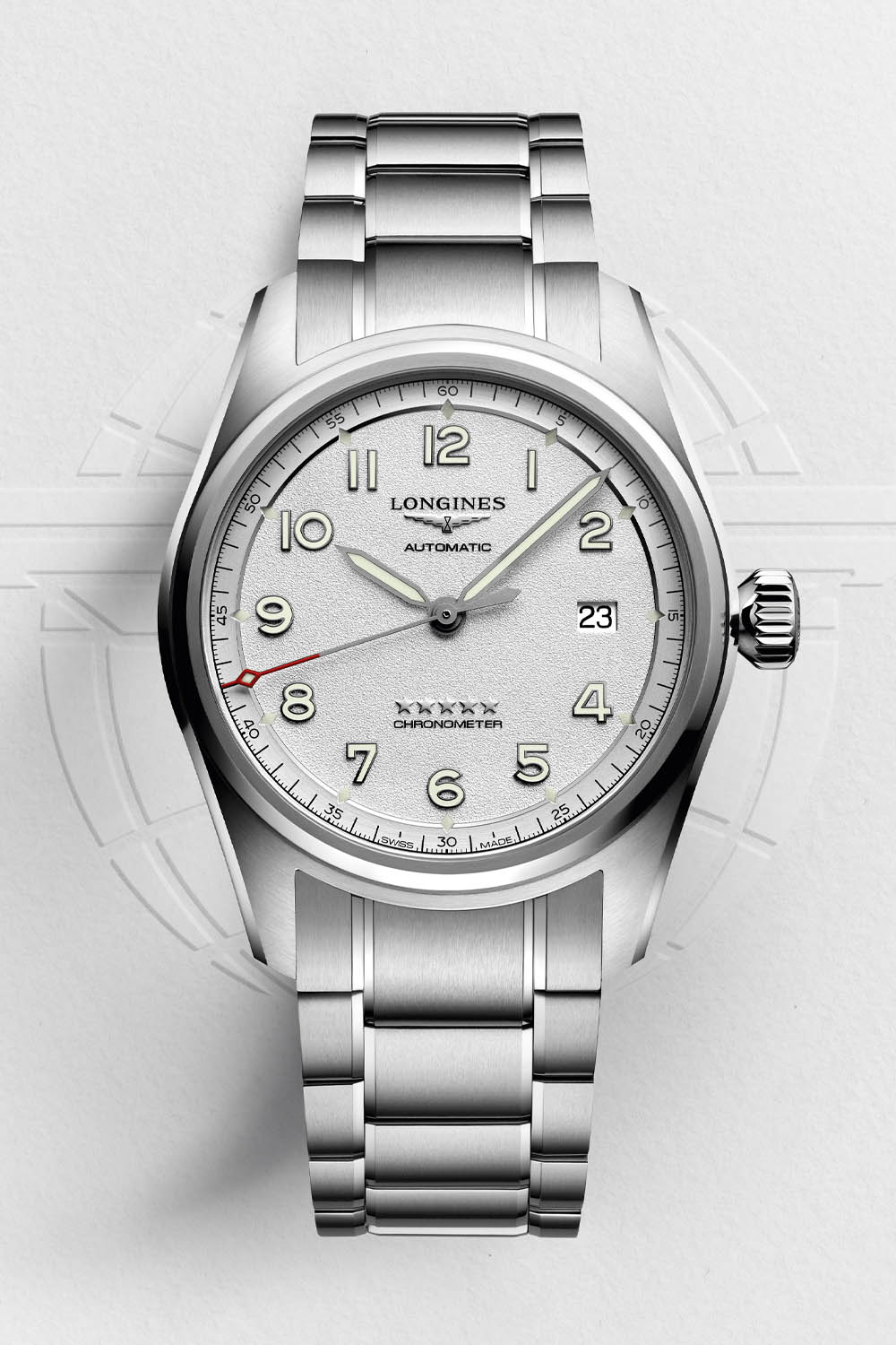 Longines Spirit Collection 2020 silver grained dial - 1
