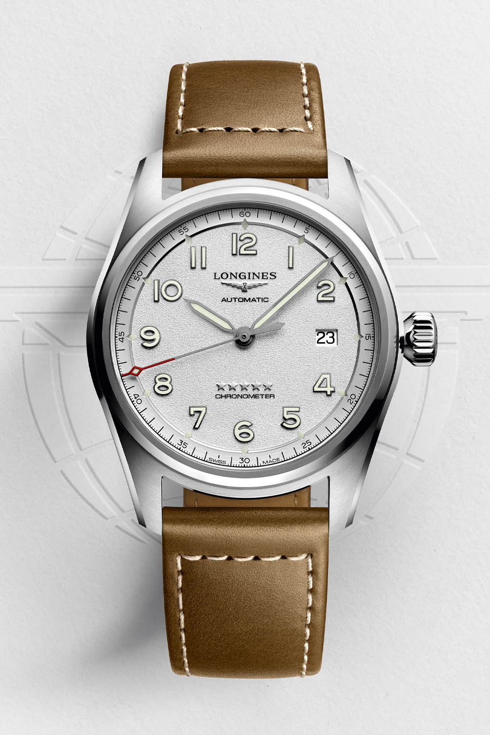 Longines Spirit Collection 2020 silver grained dial - 2