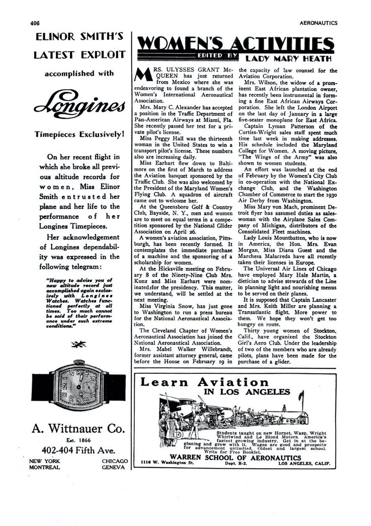 Longines advertisement Elinor Smith - longines spirit collection 2020 - 1