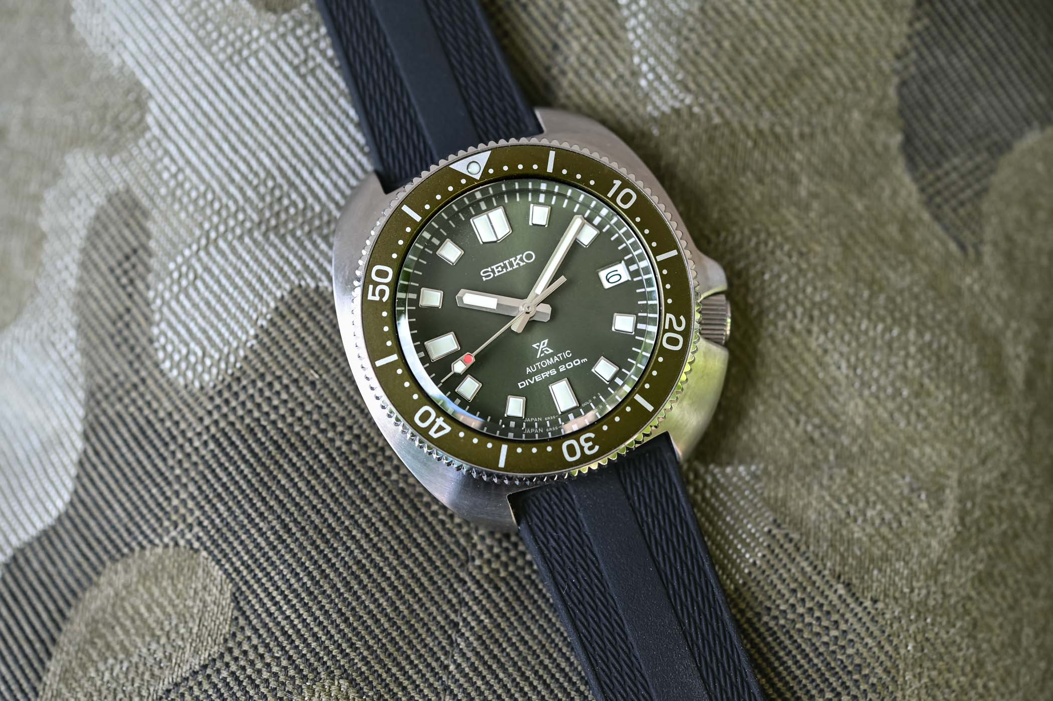 Seiko Prospex Diver Captain Willard Turtle Reissue SPB153 Green
