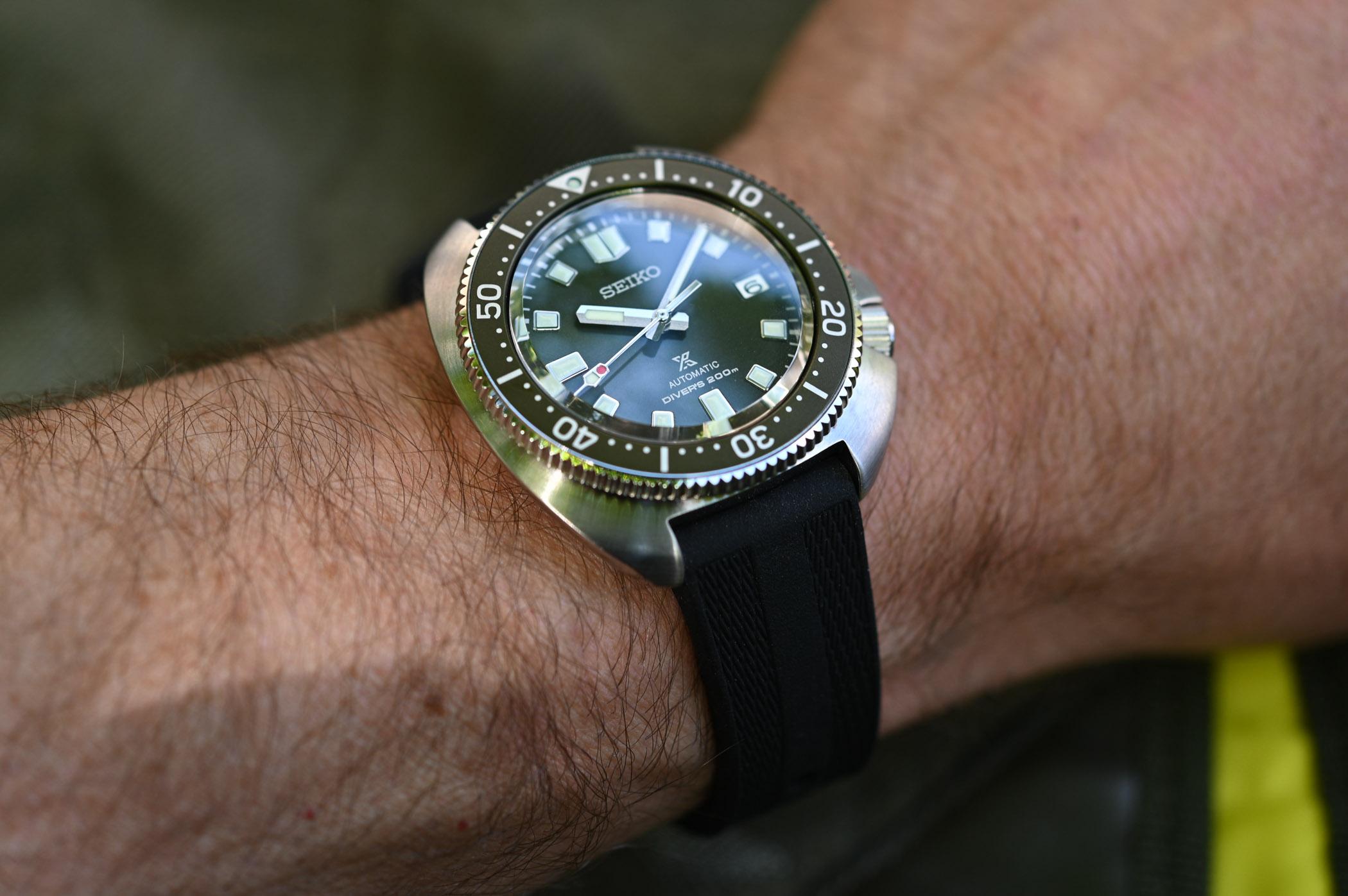 Seiko Prospex Diver Captain Willard Turtle Reissue SPB153 Green