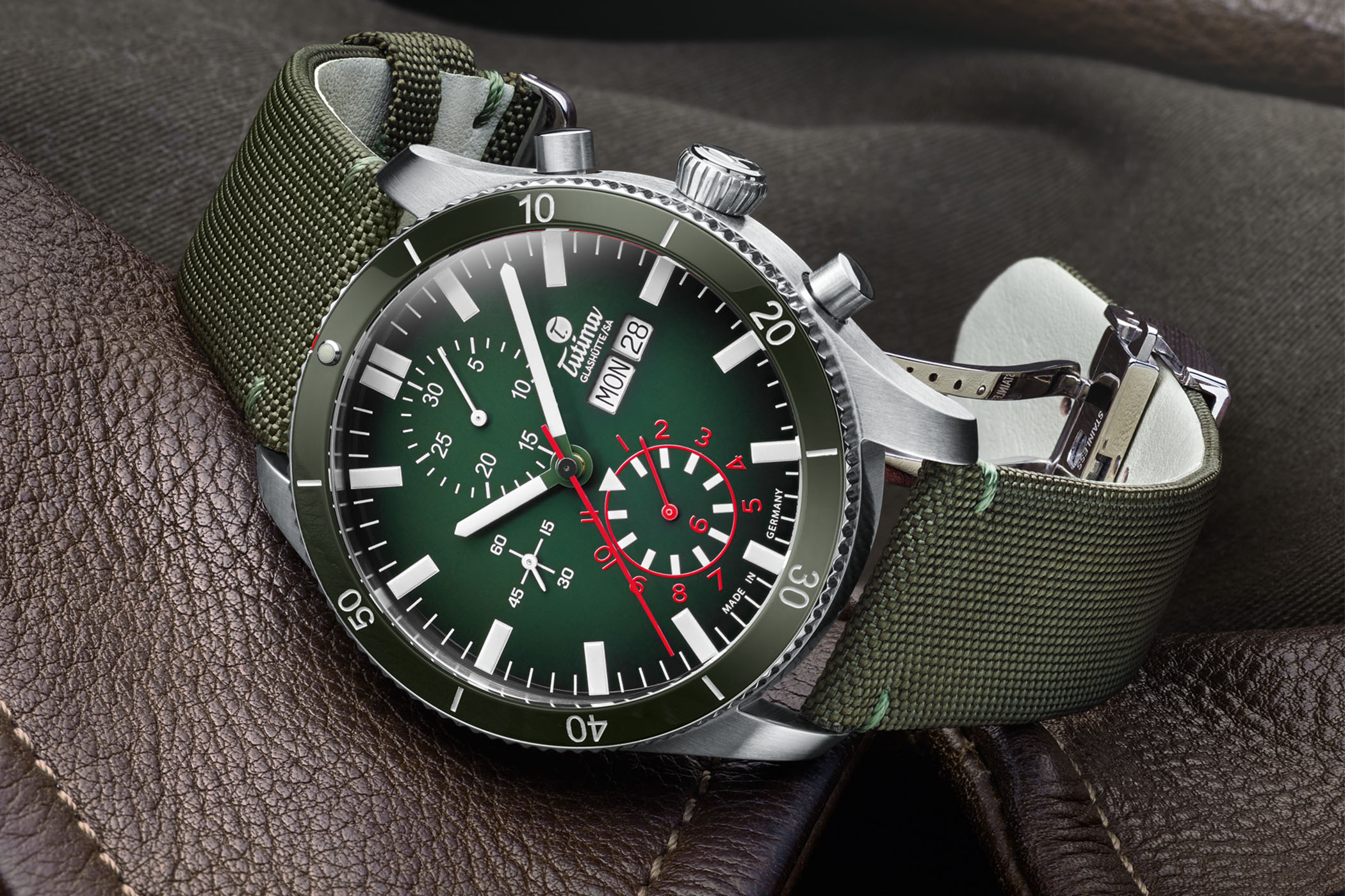 Tutima Grand Flieger Airport Chronograph Ceramic Bezel