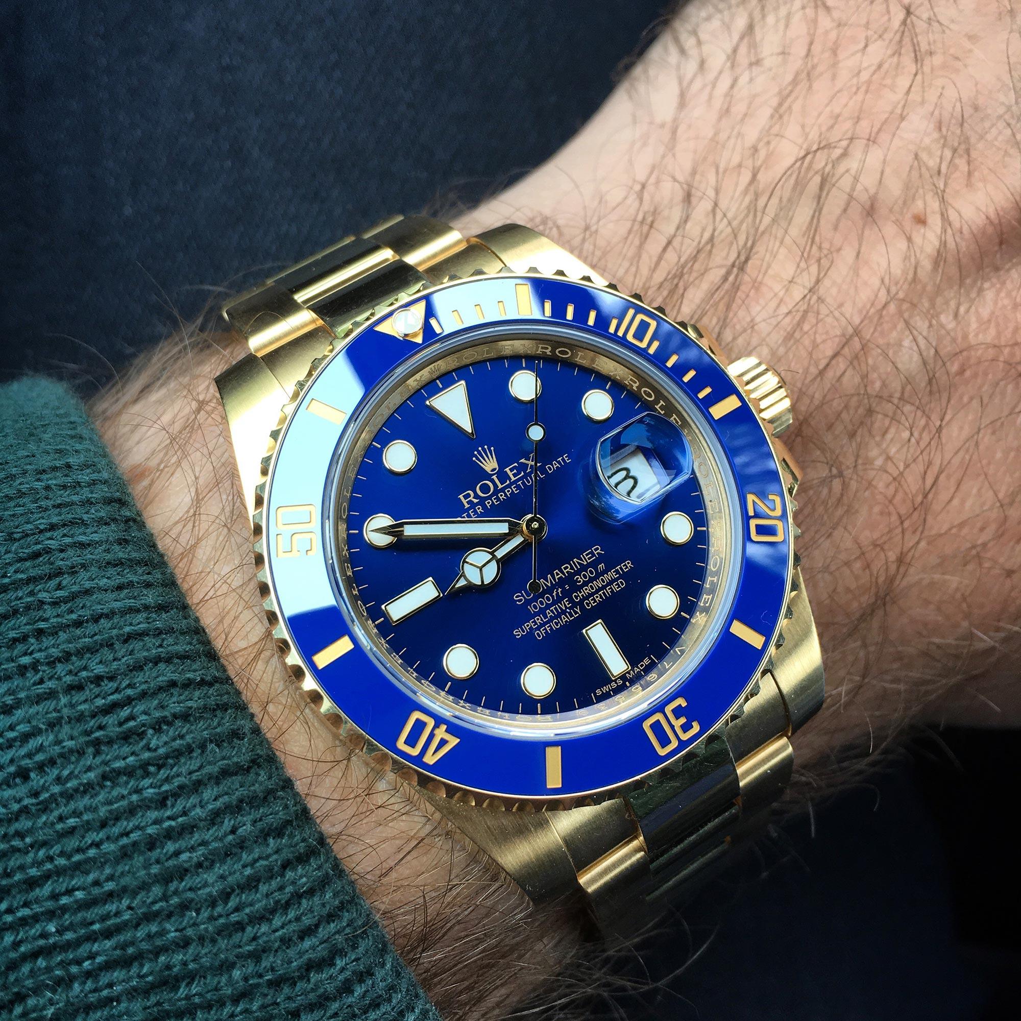 rolex-submariner-gold-blue