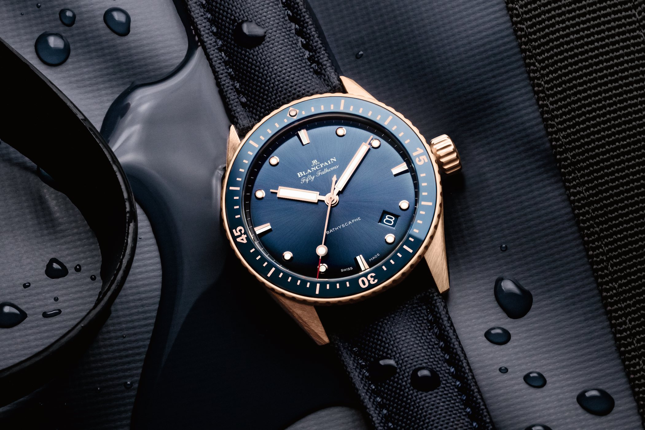2020 Blancpain Fifty Fathoms Bathyscaphe Sedna Gold
