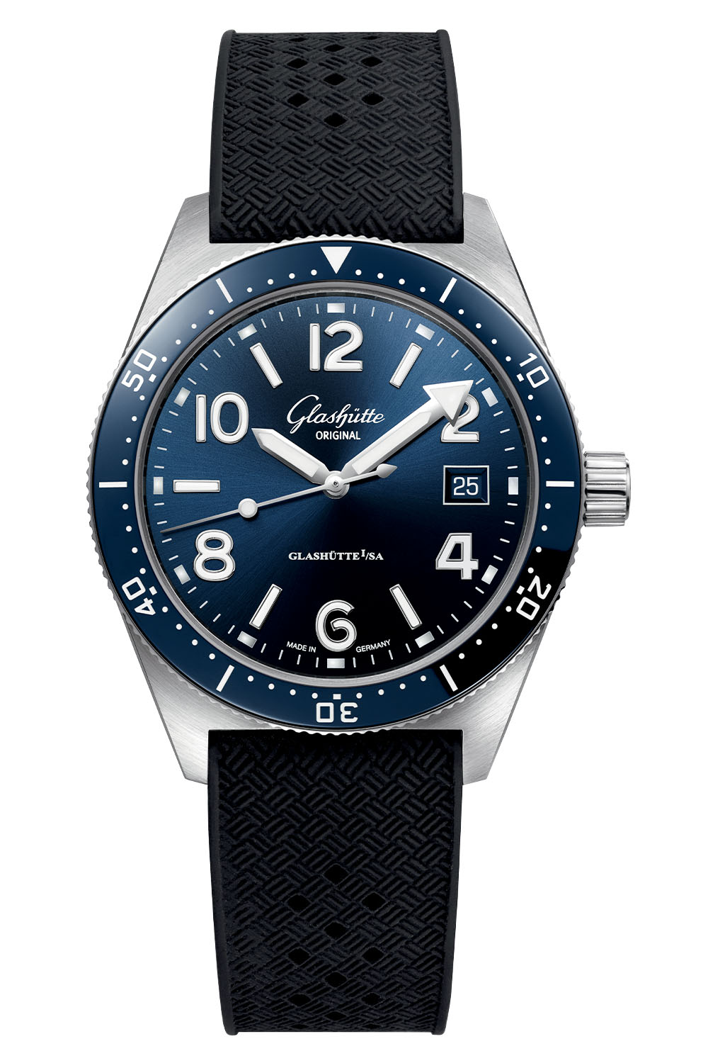 Glashutte Original SeaQ 39.5mm Blue Dial Bezel 2020 - 3