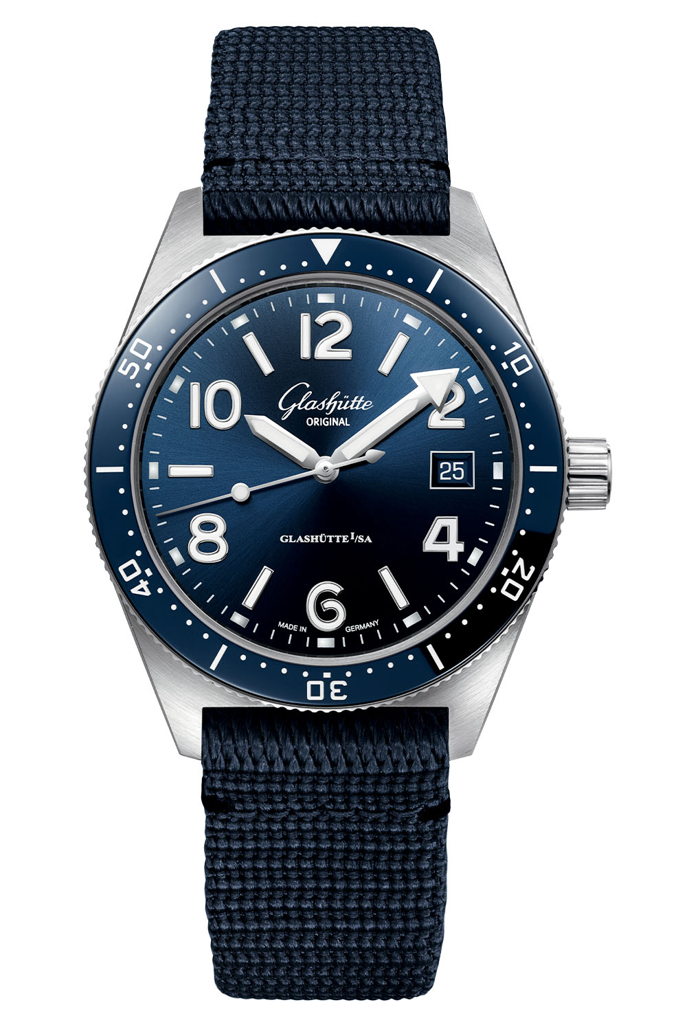 Glashutte Original SeaQ 39.5mm Blue Dial Bezel 2020 - 4