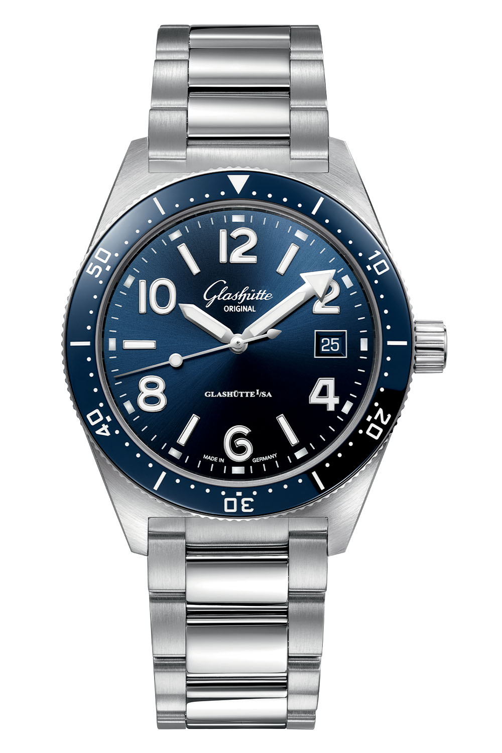 Glashutte Original SeaQ 39.5mm Blue Dial Bezel 2020 - 5