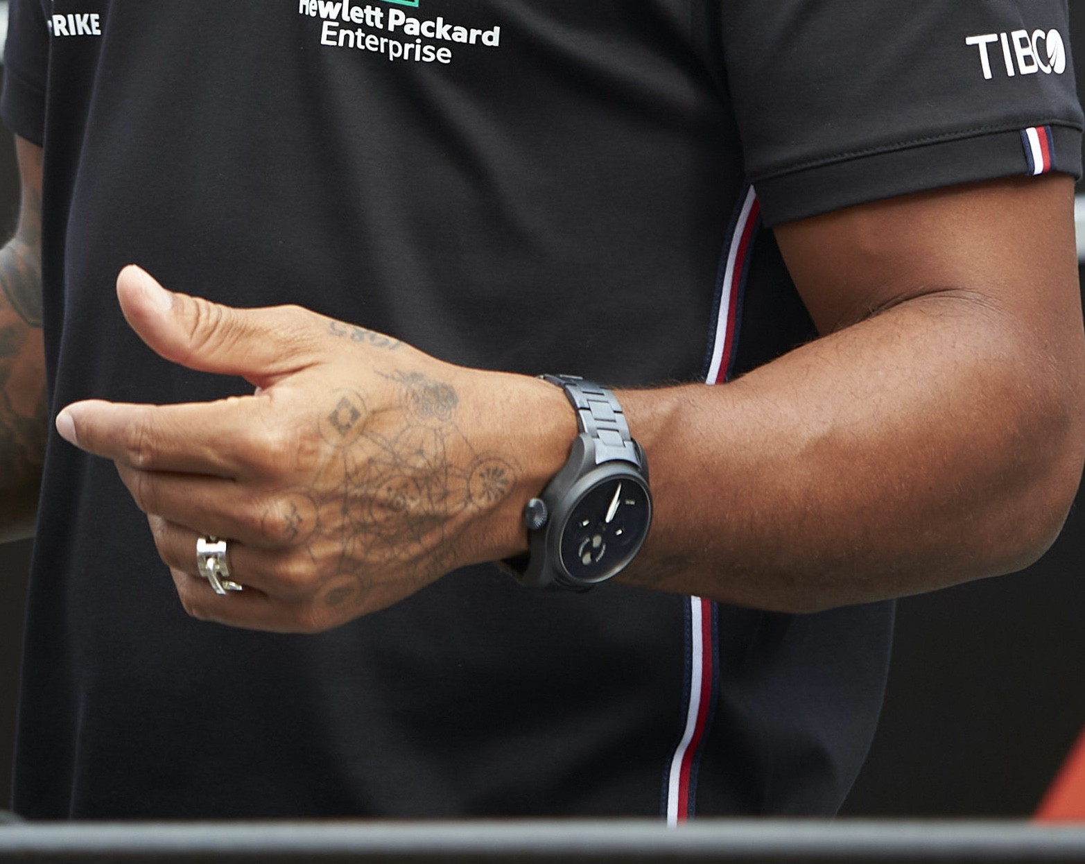 Lewis Hamilton IWC Big Pilot Full Black On Bracelet - Black Lives Matter