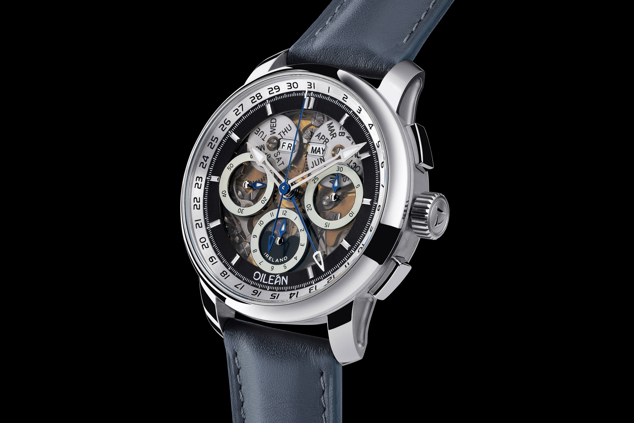 Oilean Watches by John McGonigle - H-B1 Chronograph Triple Calendar