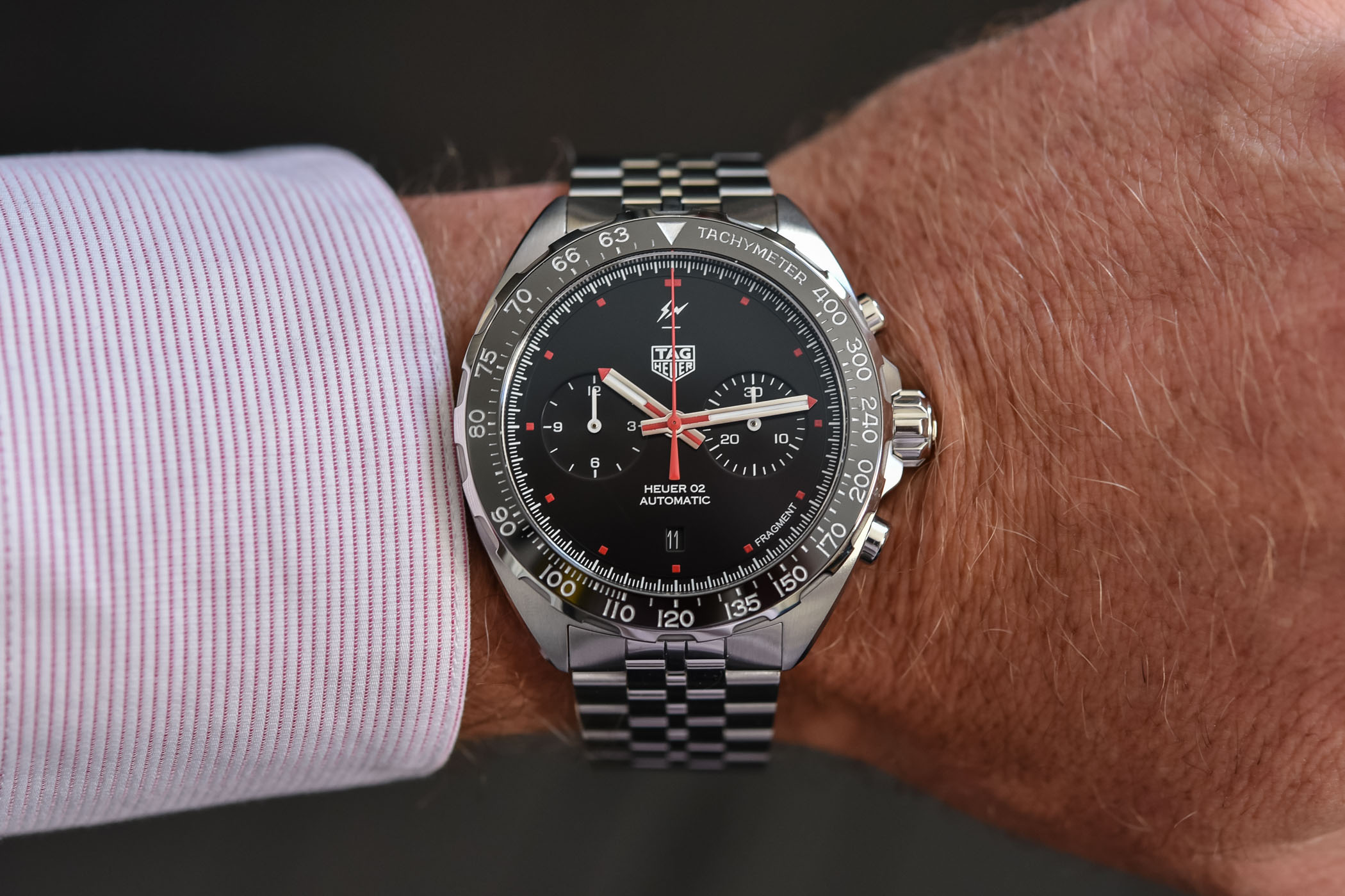 TAG Heuer x Fragment Design Calibre Heuer 02 Automatic Chronograph - Review - 2