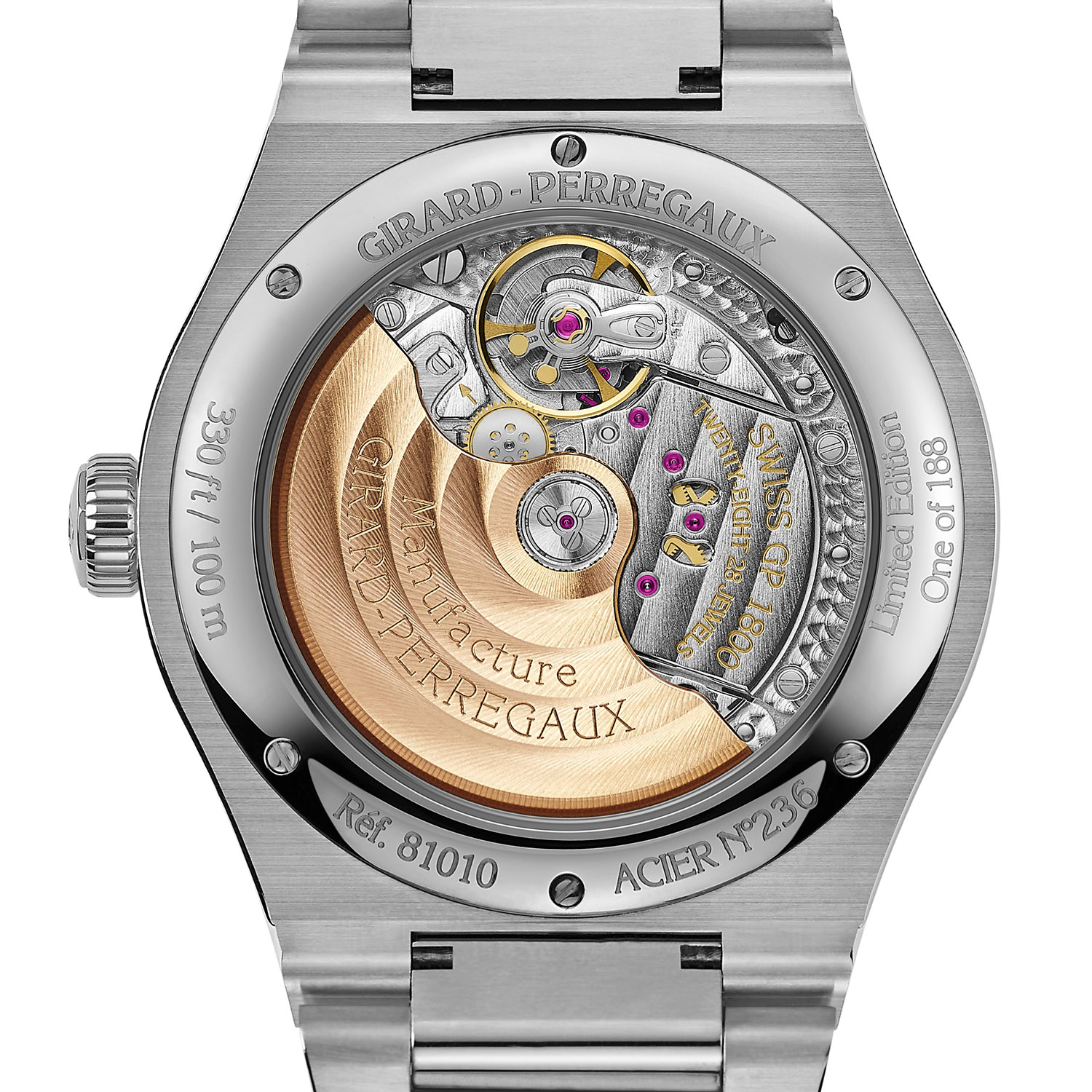 Girard-Perregaux Laureato 42mm Infinity Edition Onyx Dial for Wempe