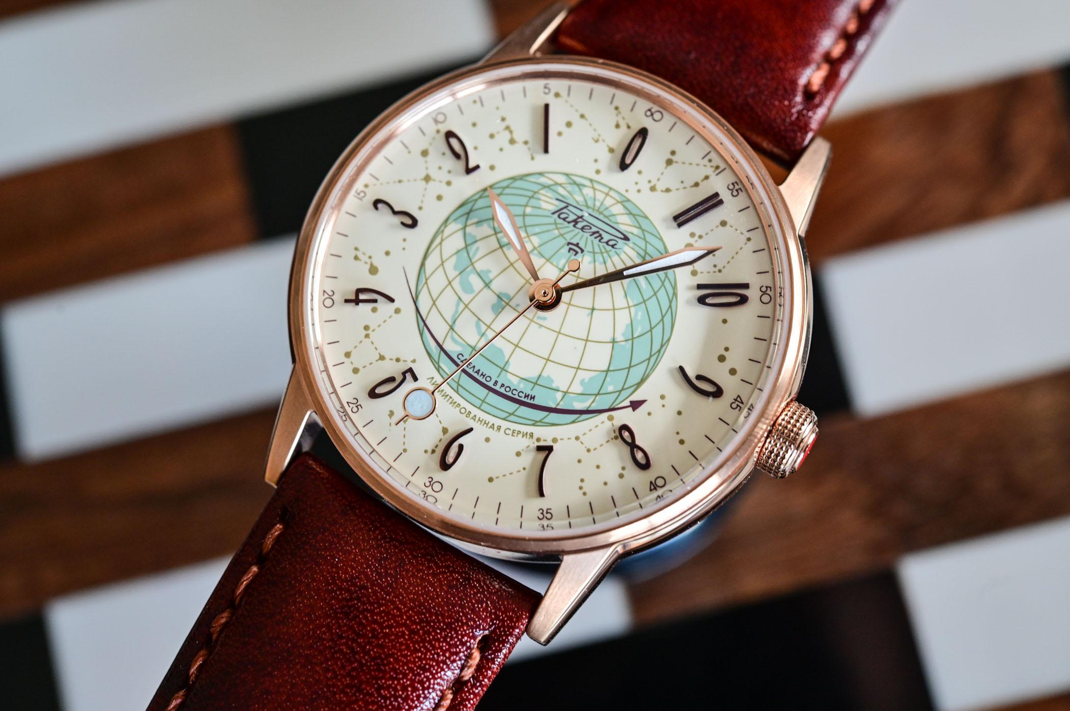 Raketa Russian Code counterclockwise watch